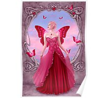 Ruby Birthstone Fairy Poster