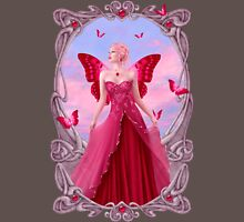 Ruby Birthstone Fairy Womens Fitted T-Shirt