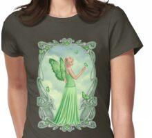 Peridot Birthstone Fairy Womens Fitted T-Shirt