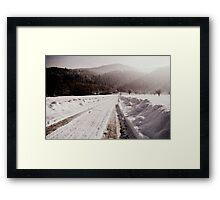 Winter Ways Framed Print