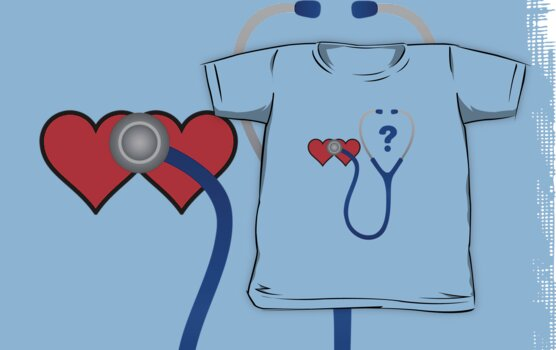 Doctor Who Two Hearts Minimalist (T-Shirt ) by PopCultFanatics