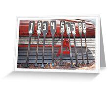 Row Greeting Card