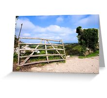 The other gate at Corfe Castle Greeting Card