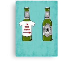 I'm With Stupid Canvas Print