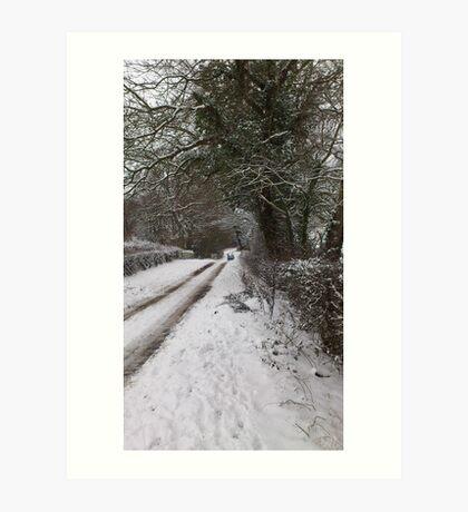 Country lanes Art Print