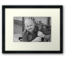 Guitar man with guitar RO Framed Print