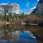 Mirror Lake Late February, Yosemite by photosbyflood