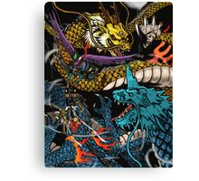 Dueling Dragons. Canvas Print