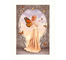 Citrine Birthstone Fairy Art Print