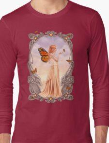 Citrine Birthstone Fairy Long Sleeve T-Shirt