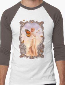 Citrine Birthstone Fairy Men's Baseball ¾ T-Shirt