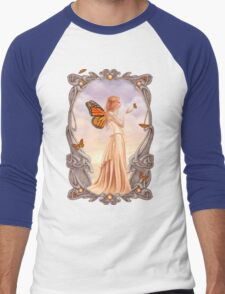 Citrine Birthstone Fairy Men's Baseball ¾ T-Shirt