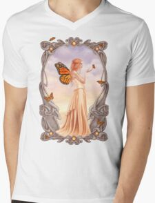 Citrine Birthstone Fairy Mens V-Neck T-Shirt