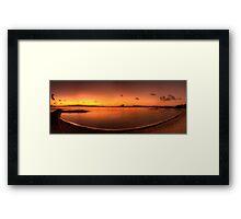 Montagu Bay Dawn, Nassau, Bahamas Framed Print