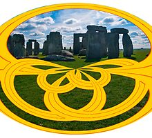 Stonehenge, the centre of Druidism, in a Celtic Knot by Dennis Melling