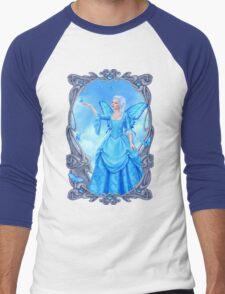 Blue Topaz Birthstone Fairy Men's Baseball ¾ T-Shirt