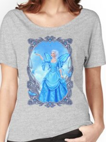 Blue Topaz Birthstone Fairy Women's Relaxed Fit T-Shirt