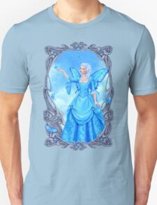 Blue Topaz Birthstone Fairy Unisex T-Shirt