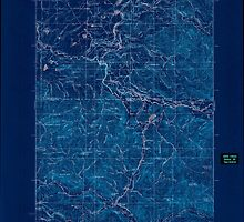 USGS Topo Map Washington State WA Eatonville 240940 1937 125000 Inverted by wetdryvac