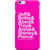 Community Character Jetset (pink variant) iPhone Case/Skin