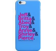 Community Character Jetset (light blue variant) iPhone Case/Skin