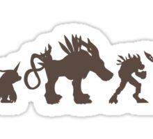 The Evolution of Monsters 2 (Light Version) Sticker
