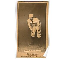 Benjamin K Edwards Collection Sam Wise Boston Beaneaters baseball card portrait 001 Poster