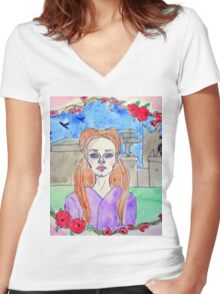 Sansa Stark Women's Fitted V-Neck T-Shirt