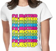 Dubstep (rainbow color) Womens Fitted T-Shirt