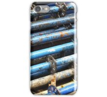 Blue Poles iPhone Case/Skin