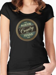 Austin Country Music Texas Women's Fitted Scoop T-Shirt