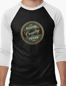 Austin Country Music Texas Men's Baseball ¾ T-Shirt