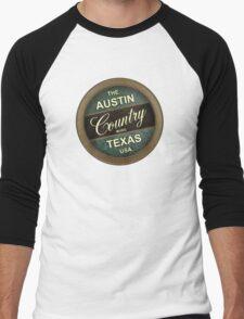 Austin Country Music Texas Men's Baseball ¾ T-Shirt