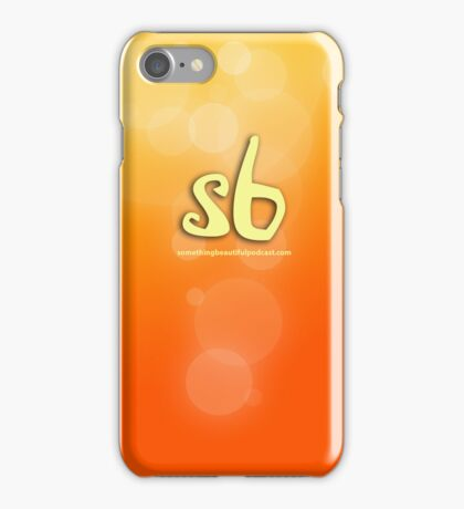 sbpodcast orange bubbles iPhone Case/Skin