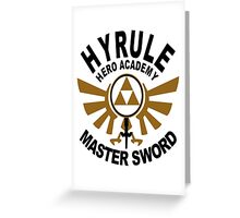 Hyrule Hero Academy Greeting Card
