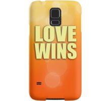 Love Wins - Orange Samsung Galaxy Case/Skin
