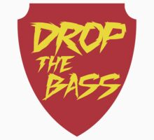 Drop The Bass Shield (red) by DropBass