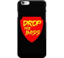 Drop The Bass Shield (red) iPhone Case/Skin
