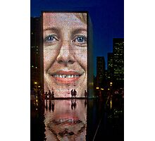 Crown Fountain Chicago Photographic Print