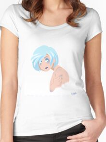 Idly freezing over Women's Fitted Scoop T-Shirt