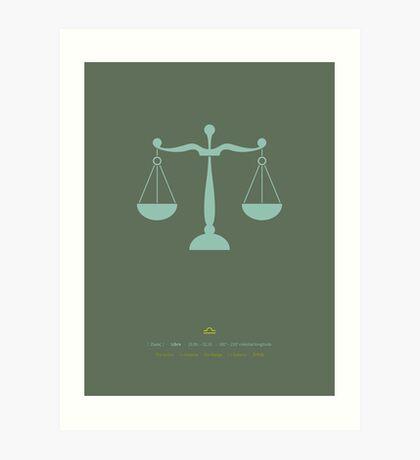 Libra Zodiac / Scale Star Sign Poster Art Print