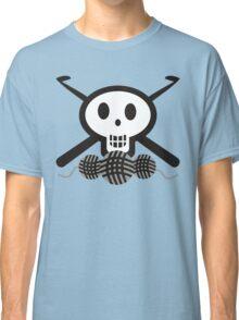 Crochet hooks skull and yarn t-shirt Classic T-Shirt