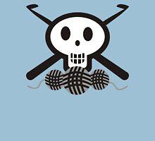 Crochet hooks skull and yarn t-shirt Womens T-Shirt