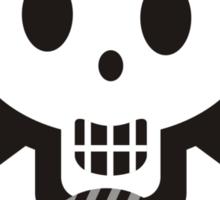 Crochet hooks skull and yarn t-shirt Sticker
