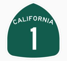 California Highway 1 T-Shirt - State Route One Road Sign Sticker PCH Kids Clothes