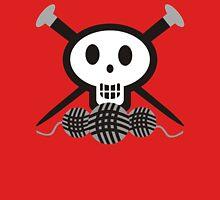 Knitting needles skull and yarn t-shirt Womens T-Shirt