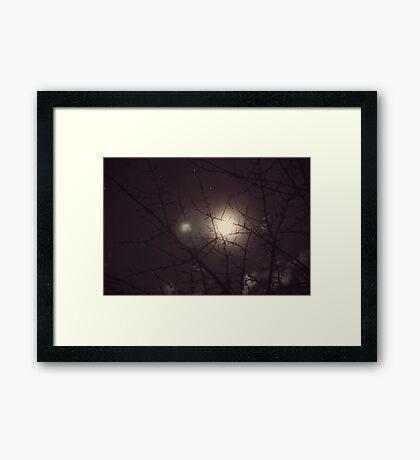 Moon&Stars Framed Print