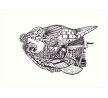 Steampunk Airship - The Black Pearl Art Print