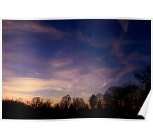 Sunset @ Wachusett Reservoir Poster