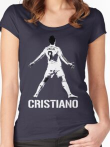 Cristiano Ronaldo Goal Celebration Women's Fitted Scoop T-Shirt